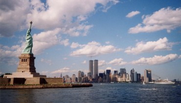 This was a picture I took in the Summer of 2001. I was on a ferry to Ellis Island.