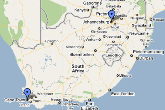 Sandton South Africa Map | Map Of Africa