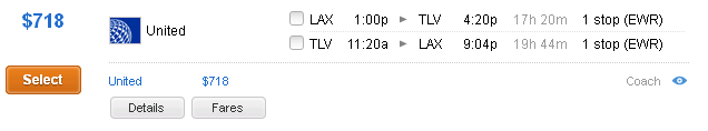 united-fares-to-israel-from-lax