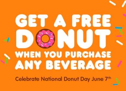 free donut day dunkin