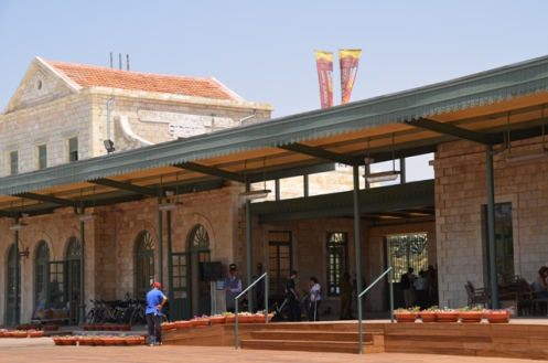 Inside the station plaza (Photo by Sharon Altshul)