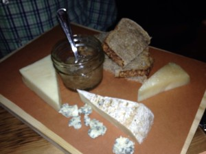 mason and mug cheese plate