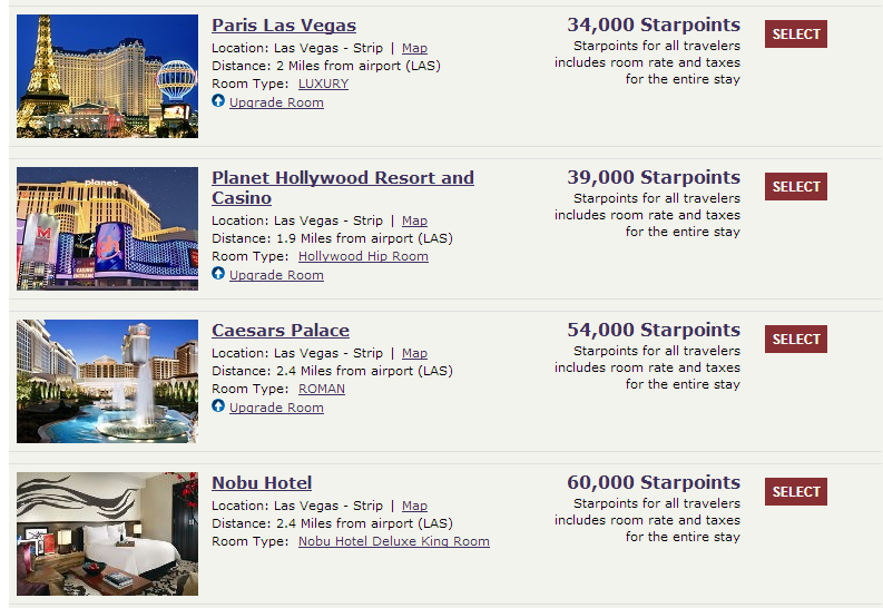 Using SPG Points To Book Caesars Entertainment Hotel Properties - Planet hollywood las vegas map
