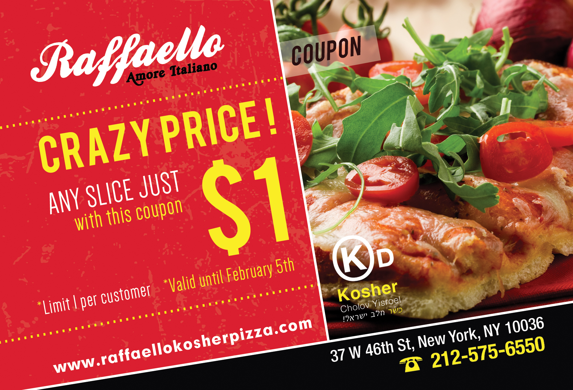 Raffaello NYC kosher coupon