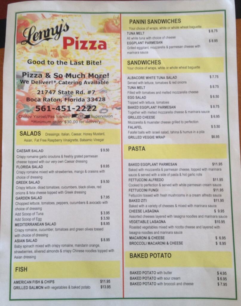 Lenny S Pizza Miami Beach