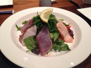 butterfish-sashimi-seaweed-salad-kosher-ny