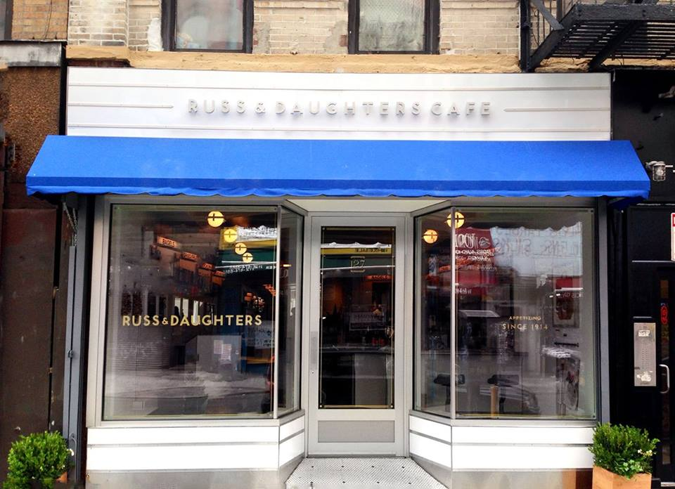 The Lower East Side storefront of Russ & Daughters