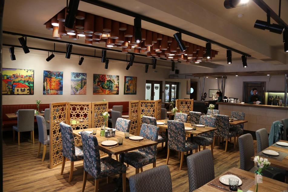 Interior of Jerusalem Cafe