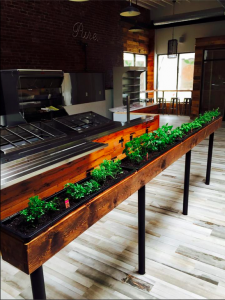 Interior of Pure Cold Press Juice and salad Bar.