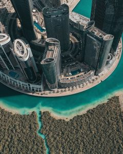 aerial view of the abu dhabi