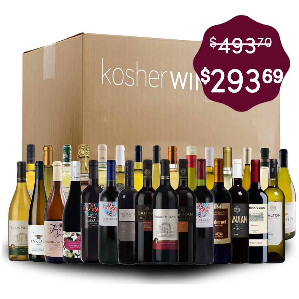 30 different wine bottles in front of a moving box, advertising a sale
