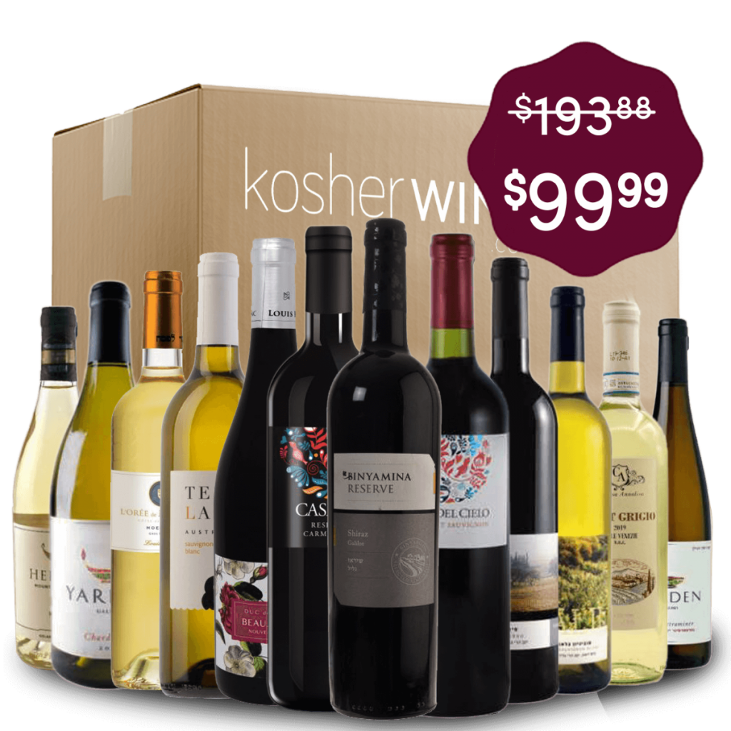 12 different wine bottles in front of a moving box, advertising a sale