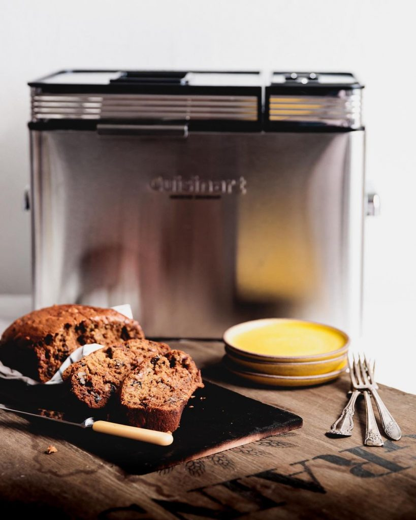 banana bread and a bread maker