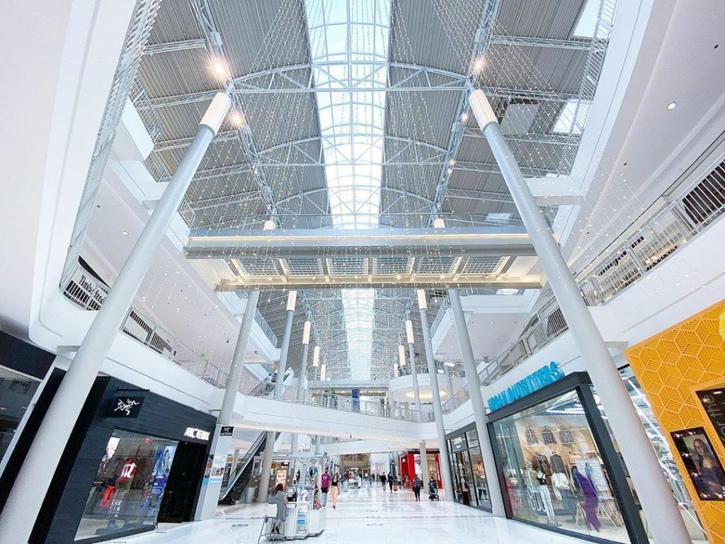 the interior of the mall of america