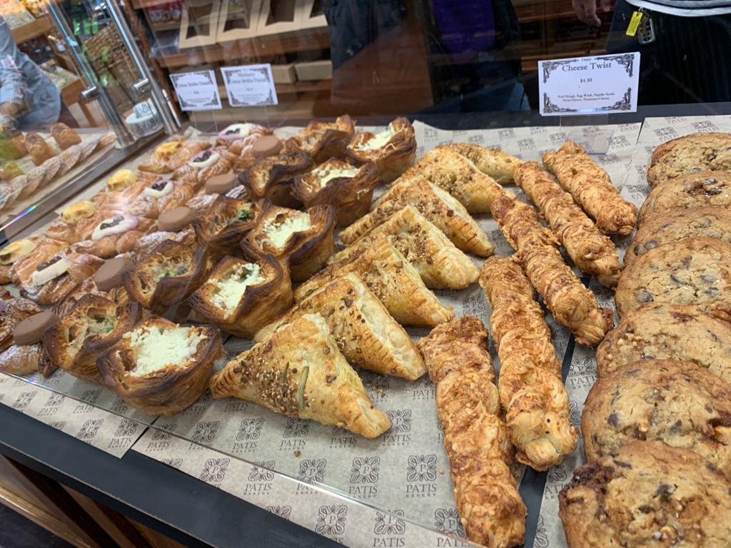 savory pastries on display