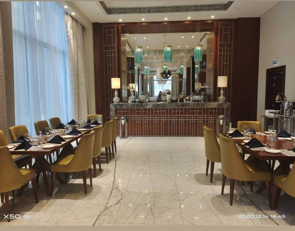 interior of elli's restaurant at the hilton habtoor city in dubai