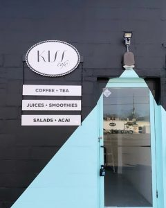 The storefront of Kiss Cafe