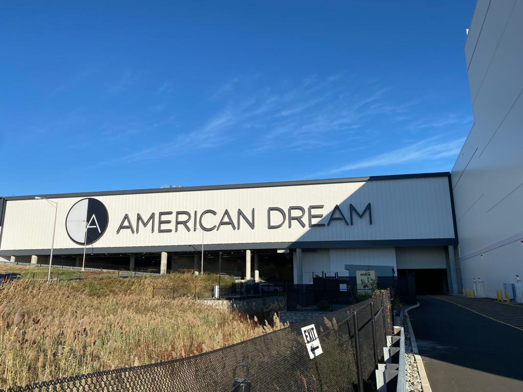 Exterior of the American Dream Mall