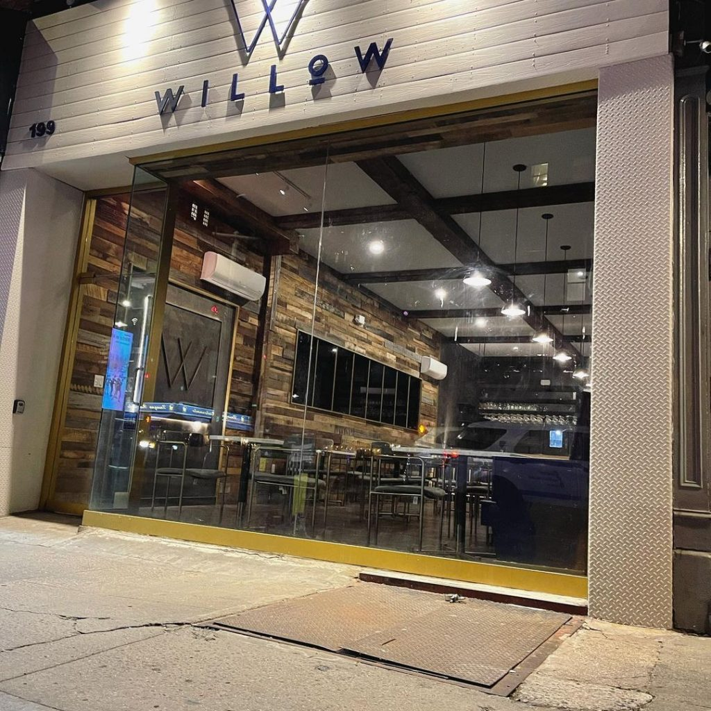 the exterior of Willow