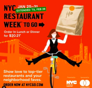 an ad for an extended NYC restaurant week